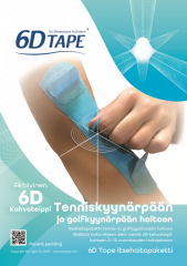 6D Tape tennis-ja golf-kyynärpää 2 hoitokertaa 2 kpl