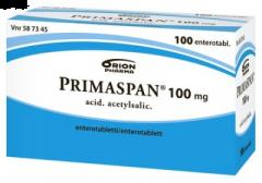 PRIMASPAN 100 mg enterotabl 100 fol