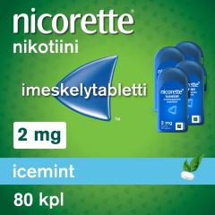 NICORETTE ICEMINT 2 mg imeskelytabl 80 kpl