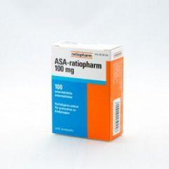 ASA-RATIOPHARM 100 mg enterotabl 100 fol
